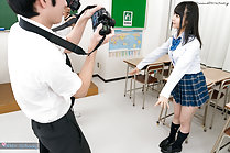 Photographed in uniform in classroom