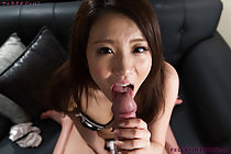 Giving oral sex while masturbating