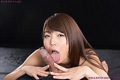 Licking Shaft Of Hard Cock Long Hair Trailing Over Her Shoulder