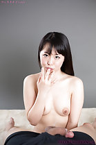Shirayuki Yuka topless licking cum from her fingers