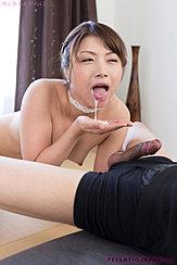 Katou Tsubaki Spitting Cum Onto Palm Of Her Hand