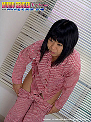 Leaning Forward Pulling Pyjama Bottoms Down