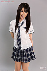 Long Hair Down Over Her Kogal Uniform Hands Clasped Behind Her Back
