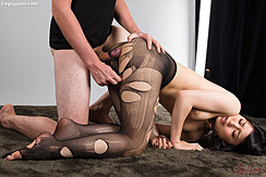 Rubbing Hot Pantyhose Against Her 81