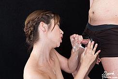 Giving Handjob Cum On Her Hands