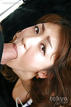 Sucking cock on her knees
