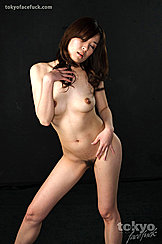 Eyes Closed Hand Raised To Long Hair Small Breasts Hand On Hip Pussy Hair Legs Parted