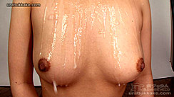 Thick Cum Dripping From Her Chest